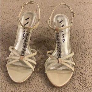 Nina designer heels with t strap